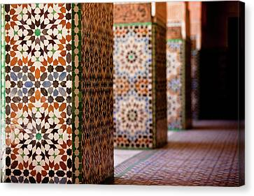 Ben Youssef Medersa Canvas Print by Kelly Cheng Travel Photography