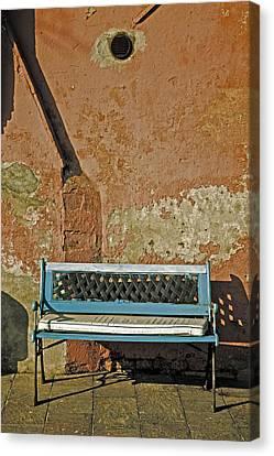 Bench Canvas Print by Joana Kruse