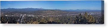 Bend Oregon Panorama Canvas Print