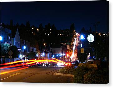 Canvas Print featuring the photograph Bending Light Through Old Town by Rob Green