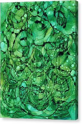 Beneath The Emerald City Canvas Print by Christine Crawford