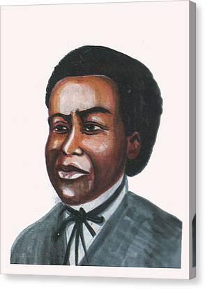 Benjamin Banneker Canvas Print by Emmanuel Baliyanga