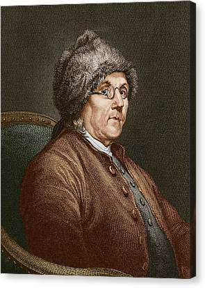 Benjamin Franklin (1706-90) Canvas Print by Sheila Terry
