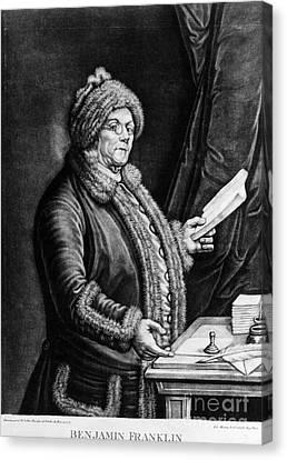Benjamin Franklin, American Polymath Canvas Print by Omikron