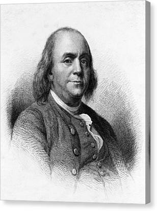 Benjamin Franklin Canvas Print by International  Images