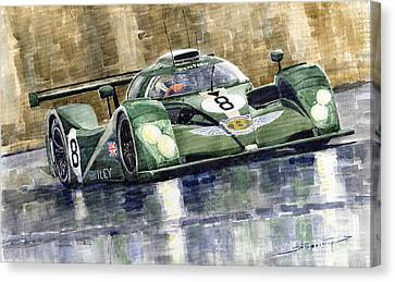 Bentley Prototype Exp Speed 8 Le Mans Racer Car 2001 Canvas Print by Yuriy  Shevchuk