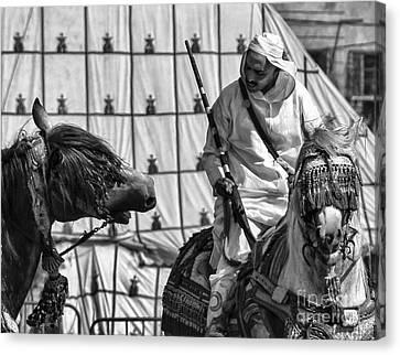 Berber Bw Canvas Print by Chuck Kuhn