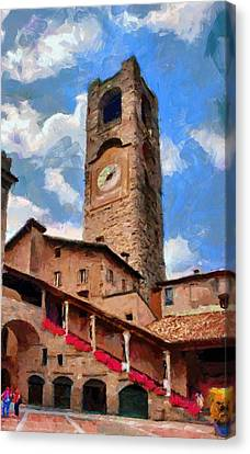 Bergamo Bell Tower Canvas Print by Jeff Kolker