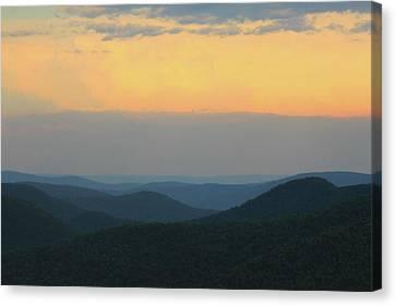 Berkshires Sunset Deerfield River Valley East Mountain Canvas Print by John Burk