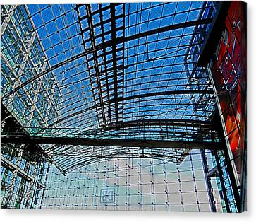 Bahn Canvas Print - Berlin Central Station ...  by Juergen Weiss