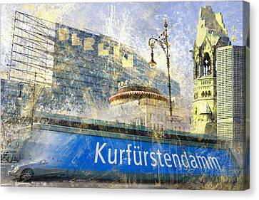 Berlin Composing Canvas Print