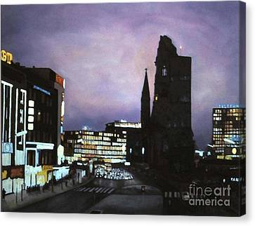 Berlin Nocturne Canvas Print by Michael John Cavanagh