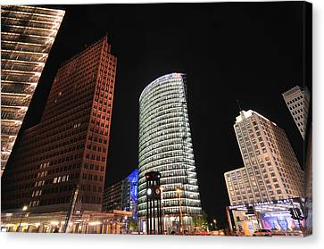 Bahn Canvas Print - Berlin Potsdamer Platz Potsdam Square Germany by Matthias Hauser