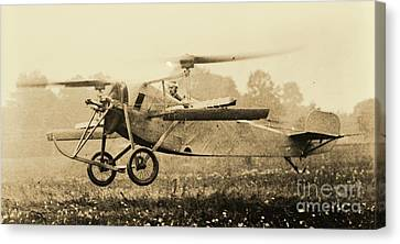 Berliner Helicopter At Take Off Canvas Print