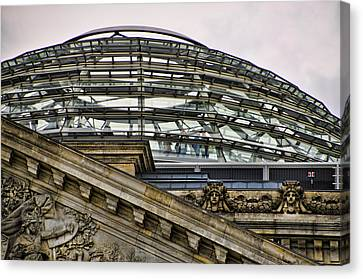 Berlins Reichstag Dome Canvas Print by Jon Berghoff
