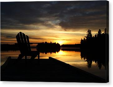 Berry Lake Sunrise Canvas Print by Steven Clipperton