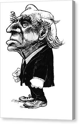 Bertrand Russell, Caricature Canvas Print by Gary Brown