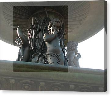 Bethesda Fountain Canvas Print by Sarah McKoy