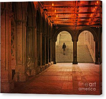 Canvas Print featuring the photograph Bethesda Passage by Deborah Smith