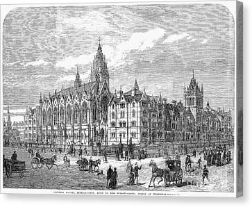 Bethnal Green Market, 1869 Canvas Print by Granger