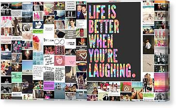 Canvas Print featuring the photograph Better To Laugh by Holley Jacobs