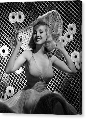 Betty Grable, 1938 Canvas Print by Everett