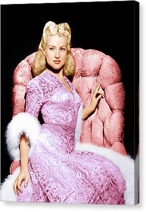 Betty Grable, Ca. 1940s Canvas Print by Everett