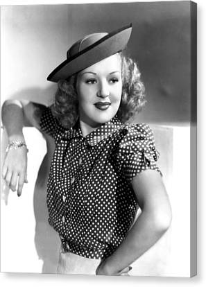 Betty Grable, Paramount Pictures, Late Canvas Print by Everett