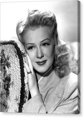 Betty Hutton, Ca. Mid-1940s Canvas Print by Everett