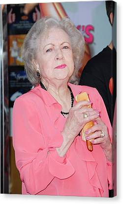 Betty White At A Public Appearance Canvas Print