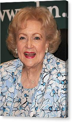 I Ask Canvas Print - Betty White At In-store Appearance by Everett