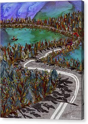 Between Lakes Canvas Print by Marina Gershman