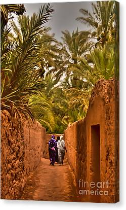 Between The Palm Trees Canvas Print by Nabucodonosor Perez