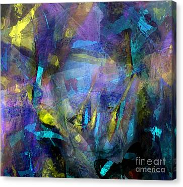 Interpretation Canvas Print - Between Thoughts Dreams And Illusion by Fania Simon