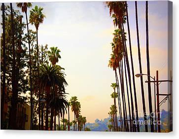 Beverly Hills In La Canvas Print by Susanne Van Hulst