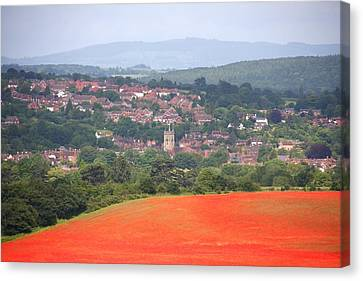 Bewdley On Poppy Canvas Print