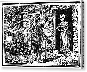 Bewick: Beggar Canvas Print by Granger