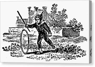 Bewick: Boy With Hoop Canvas Print by Granger