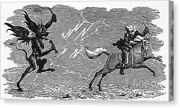 Bewick: Devil Canvas Print by Granger
