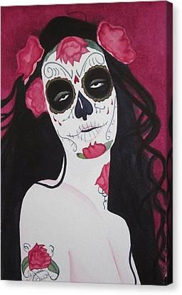 Bewitching Calavera Canvas Print
