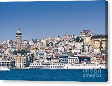Canvas Print featuring the photograph Beyoglu by Andrew  Michael
