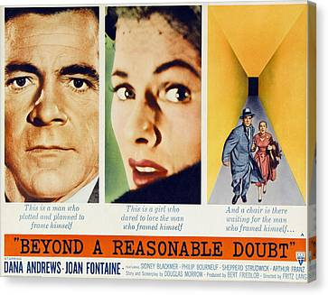 Beyond A Reasonable Doubt, Dana Canvas Print by Everett