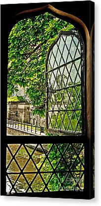 Beyond The Castle Window Canvas Print