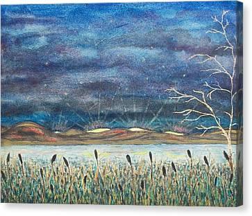 Beyond The Horizon Canvas Print by Jeanette Stewart