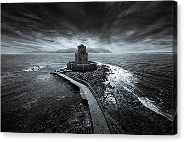 Beyond The Sea There Is A Small Prison Canvas Print by Stavros Argyropoulos