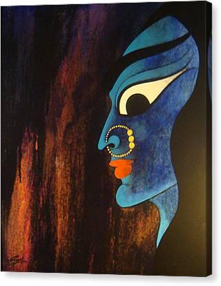 Bhadrakali Canvas Print by Sonali Chaudhari