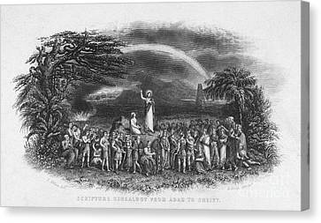 Bible: Jesus, 1833 Canvas Print by Granger