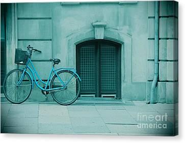 Bicycle Blues Canvas Print by Sophie Vigneault