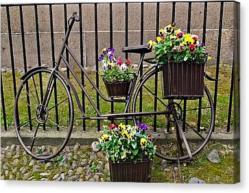 Canvas Print featuring the photograph Bicycle In Salem by Caroline Stella