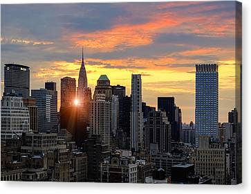 Big Apple Brilliance Canvas Print by Janet Fikar